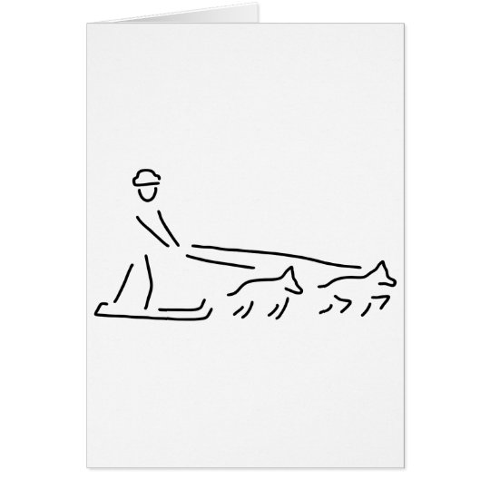 dog sleds run carriage dogs card