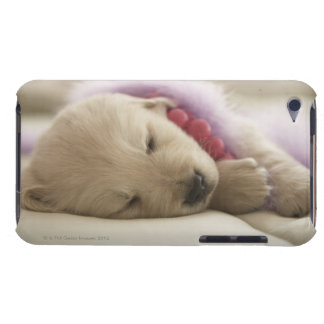 Dog sleeping on bed Case-Mate iPod touch case