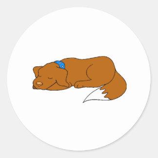 Dog Sleeping Sticker