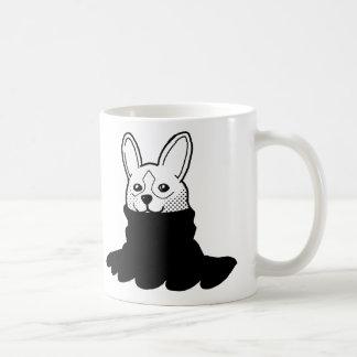 Dog Smiley Turtleneck Black Mug