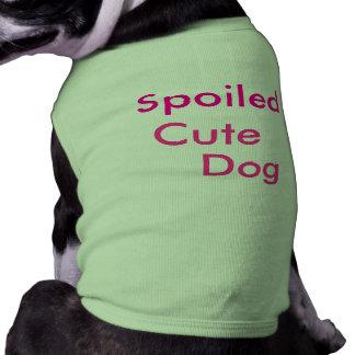 Dog , Spoiled , Cute Sleeveless Dog Shirt