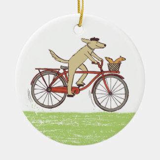 Dog & Squirrel Friends Christmas Ornament