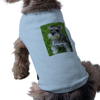 Dog Steals Heart Doggy T-shirt Sleeveless Dog Shirt