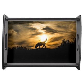 Dog Sunset Tray