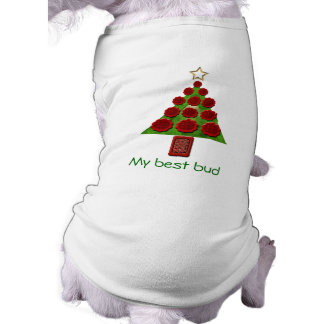Dog Sweater - Flower Christmas Tree Shirt