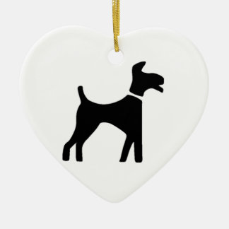 Dog Symbol Christmas Ornament