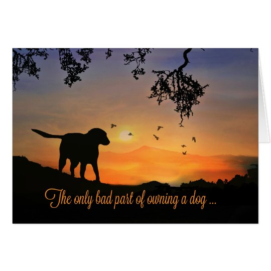 Dog Sympathy Card, Condolences for Loss of Dog