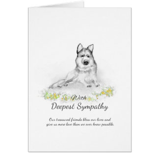 Dog Sympathy Card - German Shepherd Sympathy