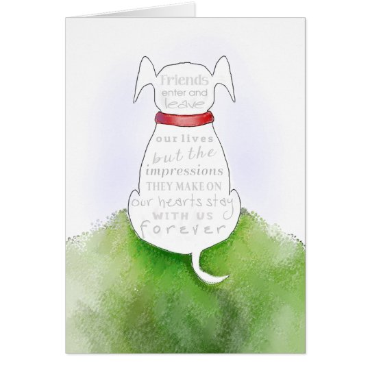 Dog Sympathy Card - Impressions on our Hearts
