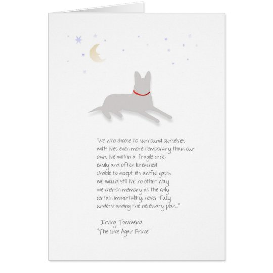 Dog Sympathy - German Shepherd - with Poem