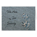Dog Sympathy Greeting Cards