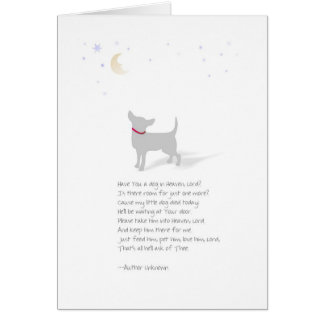 Dog Sympathy - Little Dog  - Pet Loss Poem Greeting Card