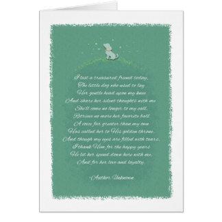 Dog Sympathy - Lost A Friend Poem (Female) Dog Greeting Card