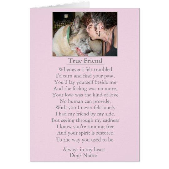 dog sympathy original poem customisable card