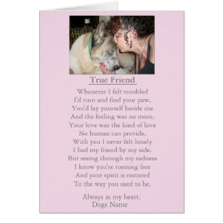 dog sympathy original poem customizable card