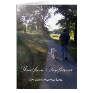 Dog Sympathy Rainbow Bridge Poem Card
