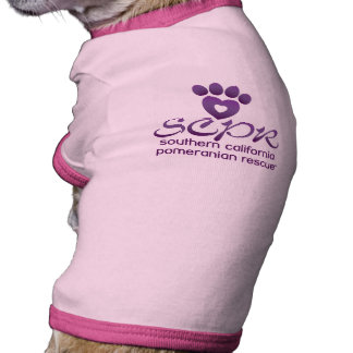 Dog T-shirt, pink or blue - So Cal Pom Rescue