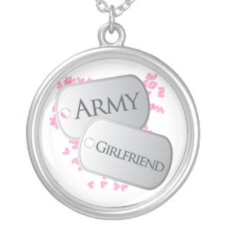 Dog Tags Army Girlfriend Round Pendant Necklace