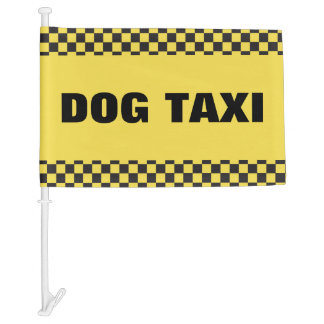 Dog Taxi Car Flag