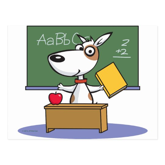 Dog Teacher Postcard