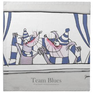 dog team blues forever napkin