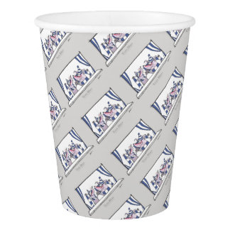 dog team blues forever paper cup