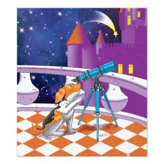 dog telescope photo print
