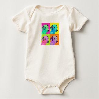 Dog, Terrier puppy. Popart Design Baby Bodysuit