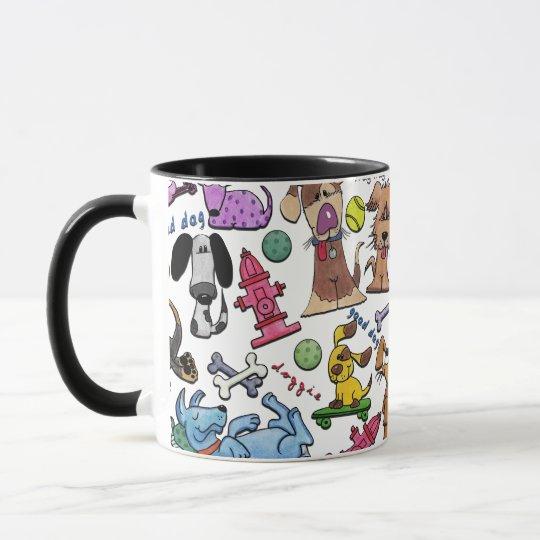 Dog Themed Collage Mug