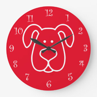 Dog Themed Wall Decor Clocks