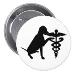 DOG THERAPY HOSPITAL 7.5 CM ROUND BADGE