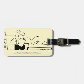 Dog Therapy Luggage Tag
