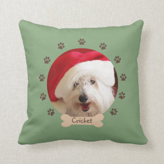 Dog Throw Pillow -- Your Dog on Green