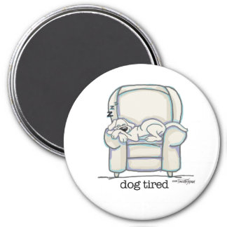 Dog Tired button Refrigerator Magnets