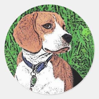 dog TLC Round Sticker