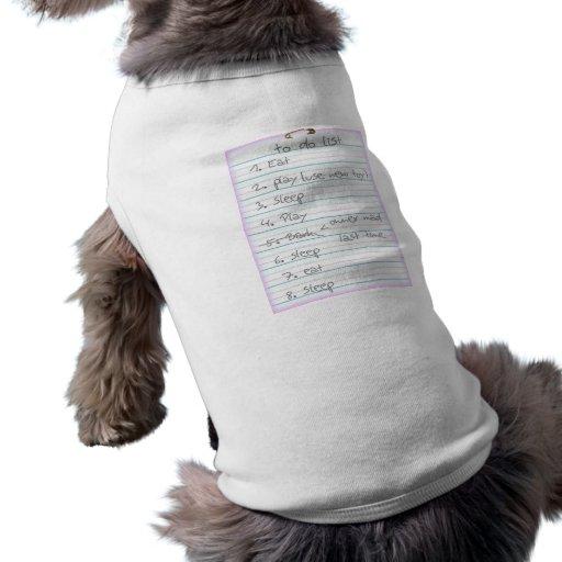Dog To Do List - Eat, Sleep, Play - Pink Dog Tee Shirt