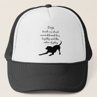Dog Totem Animal Spirit Guide Dog Logo Art  Wisdom Trucker Hat