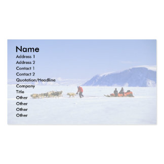 Dog tour, Kignait Fjord, Northwest Territories Pack Of Standard Business Cards