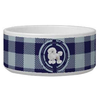 Dog  Toy Poodle (Blue theme) Pet Bowls