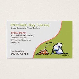 Dog Trainer Pet Business Naughty Samoyed Business Card