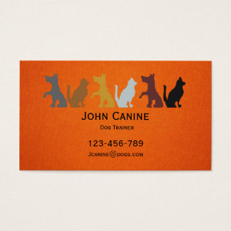Dog Trainer stylish modern professional Business Card