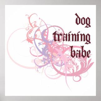 Dog Training Babe Poster