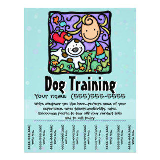 Dog Training.Dog Walking.Pet Sitting. Tear sheet 21.5 Cm X 28 Cm Flyer