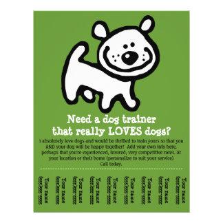 Dog Training, Walking, Grooming, Sitting promo tem 21.5 Cm X 28 Cm Flyer