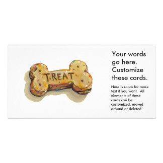 Dog treat cards for dogs parties businesses events customized photo card