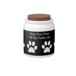 Dog Treat Cookie Jar Ceramic Sweet Jar