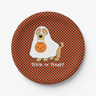 Dog Trick or Treat  Paper Plates 7""