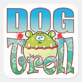 Dog Troll Square Sticker