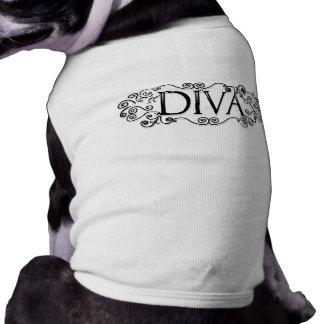 Dog Tshirt - DIVA - Black & White Design