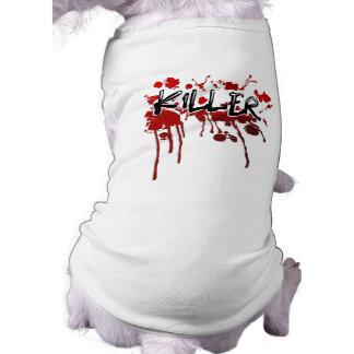 Dog Tshirt - Halloween Blood Splatter KILLER